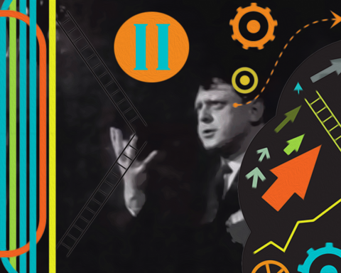 Anthony Burgess. Collage: C Altgård / Opulens.