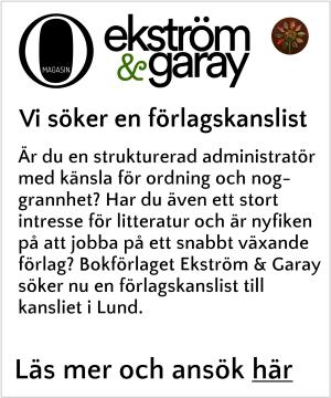 Ekström & Garay söker förlagskanslist